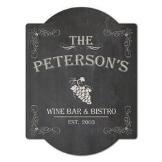 Personalized Bistro sign! https://www.etsy.com/listing/188173747/wine-bar-and-bistro-custom-wall-decor