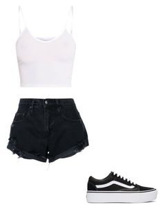 """""""Untitled #135"""" by alessiacaravetta on Polyvore featuring Nobody Denim and Vans"""