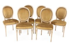 1,199.00   (2,400.00)French Oak Dining Chairs, Set of 6 on OneKingsLane.com