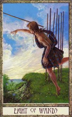 druidcraft tarot eight of wands - Pesquisa Google