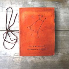 Aries Zodiac Handmade Leather Journal - Soothi Artisan Jewelry And Yoga Products