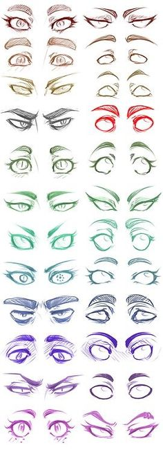 Eye Drawing Tutorial Manga Character Design References 36 Ideas For 2019 Eye Drawing Tutorials, Drawing Techniques, Drawing Tips, Drawing Ideas, Drawing Pictures, Sketch Drawing, Eye Sketch, Lips Sketch, Character Sketches
