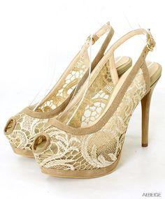 RANDA# lace# heels #beautiful