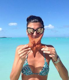 Gio hits the beach.  Courtesy of Giovanna Battaglia; W magazine...