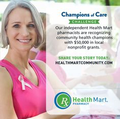 Take the Challenge! Nominate your CHAMPION OF CARE. Win up to $30k in grants for a local charity http://budurl.com/healthmartsocial … #HealthMartCares #ad