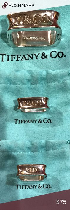 Tiffany ring size 9 Pre owned. In good condition. Shiny, no tarnished Tiffany & Co. Jewelry Rings
