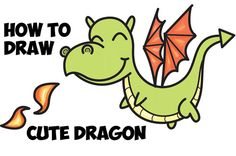 Today I'll show you how to draw a cute little dragon shooting cute little flames. We will guide you through drawing this cute kawaii dragon by using alphabet letters, numbers, and simple geometric shapes. This tutorial is great for kids of all ages! Have fun and happy drawing!