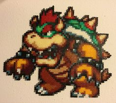 Perle hama en forme de browser geek : Perles par hamadeco Perler Beads, Bowser, Etsy, Vintage, Projects, Fictional Characters, Mario, Board, Dots