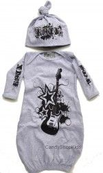 Grey Rock Sac and Cap Set for Newborn Baby Boy