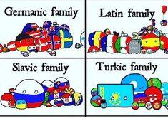 Polandball families