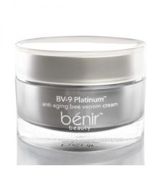Benir Beauty BV Nine Platinum Anti-Aging Bee Venom Cream repairs signs of aging with bee venom, copper peptides, coenzyme Q10, argireline and hyaluronic acid. This multi-purpose day/night/eye cream is formulated to encourage collagen production while minimizing and softening lines and wrinkles by relaxing muscles in a non-paralytic way. #truthinaging #antiaging #saggingskin