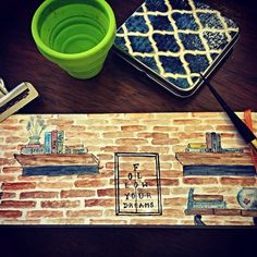 Watercress cafe, bali. Archana shankari - watercolor travel journal