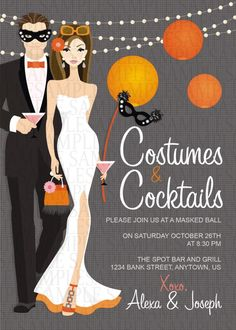 costume adult birthday party invitation $11 | halloween party, Party invitations