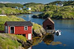 Taken in Salt Harbour - beautiful ! Beautiful Sites, Beautiful Islands, Beautiful Places, Newfoundland Canada, Newfoundland And Labrador, Watercolor Landscape, Watercolour, Arctic Landscape, Discover Canada