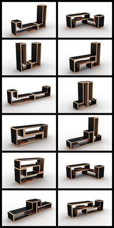 Viktor Puzur : Tetris Furniture Https://www.behance.net/gallery