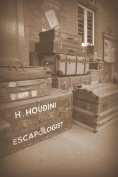 """Hand-Lettered """"H. Houdini Escapologist"""""""