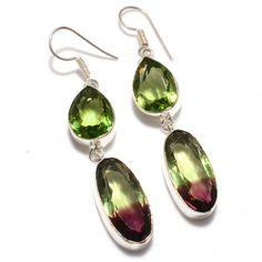 Peridot Jewellery – Peridot- 925 Silver - Dangle Earrings - Party Wear – a unique product by 925silvercollection on DaWanda