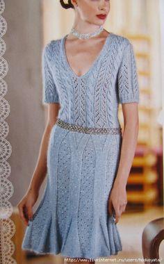 Голубое платье Mani Di Fata - Платья, сарафаны зимние
