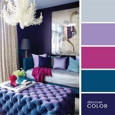 Спальня в синих тонах | DiscoverColor.ru