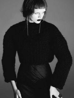 Regal Gothic Fashion - The Dress to Kill 'Black Celebration' Editorial is Glamorously Dark (GALLERY)