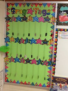 *Bunting, Books, and Bainbridge*: Classroom Pics Take 2! Brag Tags
