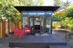 Bay Area Office 10x12: Studio Shed Lifestyle - modern - Garage And Shed - Other Metro - Studio Shed