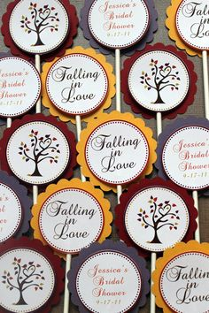 Love Birds in a Tree Fall Bridal Shower by ExpressionsPaperie, $10.00