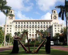 The Breakers in Palm Beach is the ultimate in venues for your beautiful wedding. Perfect with The Elegant Harp and 2 harpists Esther and AnnaLisa Underhay performing for your South Florida wedding #Breakerswedding @theelegantharp #PalmBeachWedding #Bride #Groom