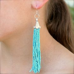 DIY festival fringe earrings by Denise Yezbak Moore featuring Bliss Beads available at Jo-Ann Stores