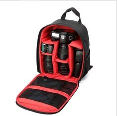 Hot-sale 3 Colors Camera Backpacks Gifts High Quality Camera Bag Gift Camera Backpack Bag Waterproof DSLR Case for Canon