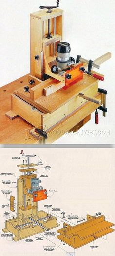 DIY Mortising Machine - Joinery Tips, Jigs and Techniques | WoodArchivist.com