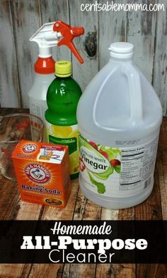 Make your own All-Purpose Cleaner with just 3 household ingredients.