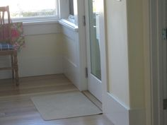 Squared finish in white skirting boards ..