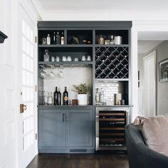 Wet Bar Cabinets, Upper Cabinets, Transitional Living Rooms, Transitional Kitchen, Built In Bar Cabinet, Kitchen Wet Bar, Kitchen Stuff, Home Bar Rooms, Living Room Bar