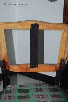 Silla francesa antes y después Desk, Inspiration, Furniture, Blog, Home Decor, Chair Repair, Chair Backs, Chair Covers, Recycled Furniture