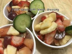 Fruit salad lemon dressing