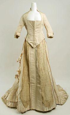 Wedding Dress    Date:      1881  Culture:      American or European  Medium:      silk