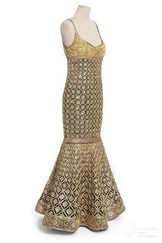 'Coromandel', evening dress, Karl Lagerfeld for Chanel, Lesage embroideries, Buche fabrics. Courtesy Les Arts Décoratifs, allrights reserved.