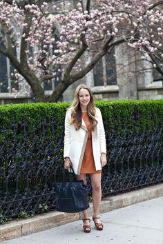 white coat for spring