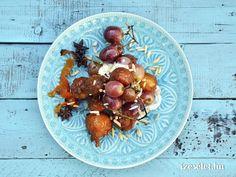 Tunéziai édesburgonyás szőlős fánk Potato Salad, Plum, Potatoes, Meat, Chicken, Fruit, Ethnic Recipes, Food, Potato