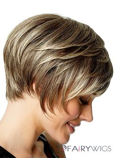 European Style Short Straight Gray 10 Inch Indian Remy Hair Wigs