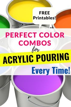 Acrylic Pouring Techniques, Acrylic Pouring Art, Acrylic Art, Acrylic Painting Lessons, Pour Painting, Diy Canvas Art, Color Combos, Colour Pallette, Cool Paintings