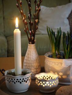 Keramická dílna Hliněnka: Bydlení a zahrada Candle Holders, Candles, Porta Velas, Chandelier, Pillar Candles, Lights, Candlesticks, Candle