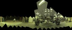View of a test rover at NASA's Jet Propulsion Laboratory