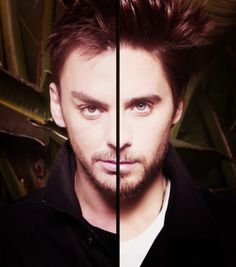 Shannon & Jared Leto, well half of each anyway. Bizarre.