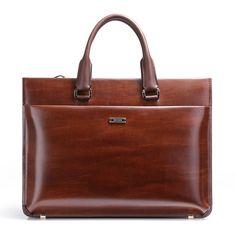 Men Real Leather Portfolio 15   Premium Briefcase Detachable Shoulder Strap