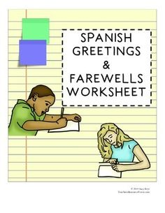 Spanish introductions greetings and goodbyes spanish learning spanish greetings and farewells practice worksheet m4hsunfo