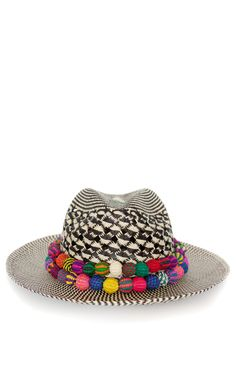 Shop X Double Band Panama Hat by Valdez Panama Hats for Preorder on Moda Operandi