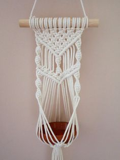Your place to buy and sell all things handmade Macrame Plant Hanger Patterns, Macrame Wall Hanger, Mustard Walls, Irish Design, Cream Walls, Media Wall, Hanging Plants, Decoration, Fiber Art