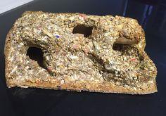 Gerbil cave made from paper and gerbil bedding that they have chewed up. Mixed together with a glue made from boiled flour and water. Degu, Gerbil, Bagel, Bedding, Food, Bed Linens, Meals, Bed Linen, Linens
